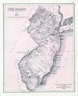 New Jersey State Map, New Jersey Coast 1878